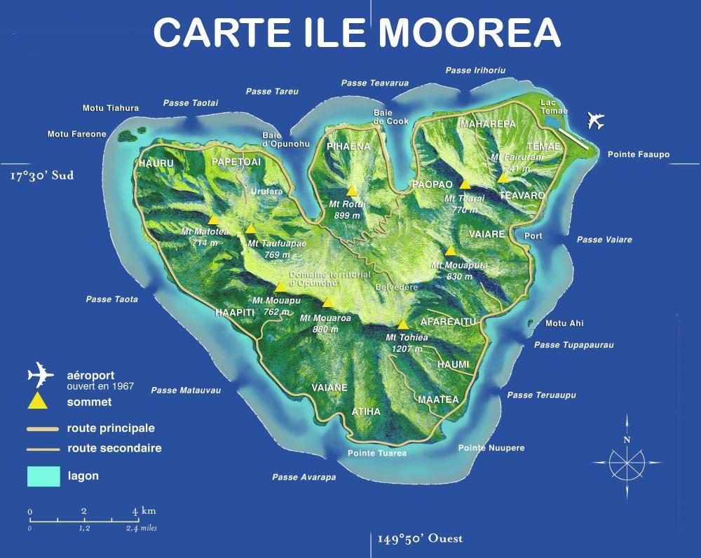 Moorea - Carte