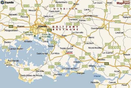 carte - image de Bretagne sud