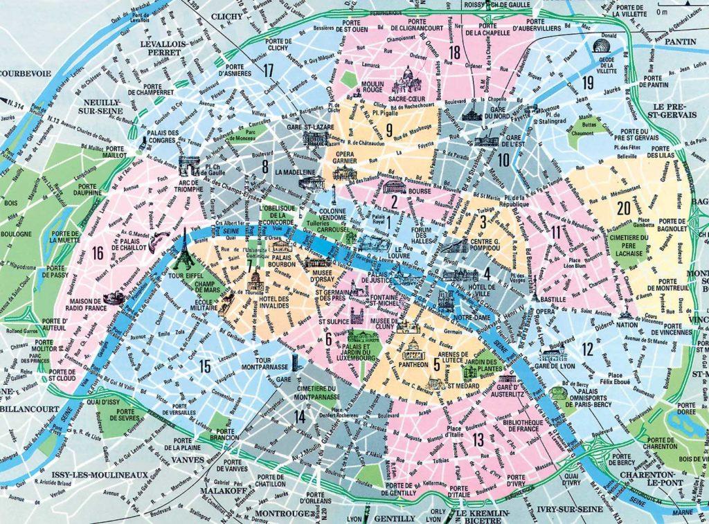 Plan de Paris - Carte
