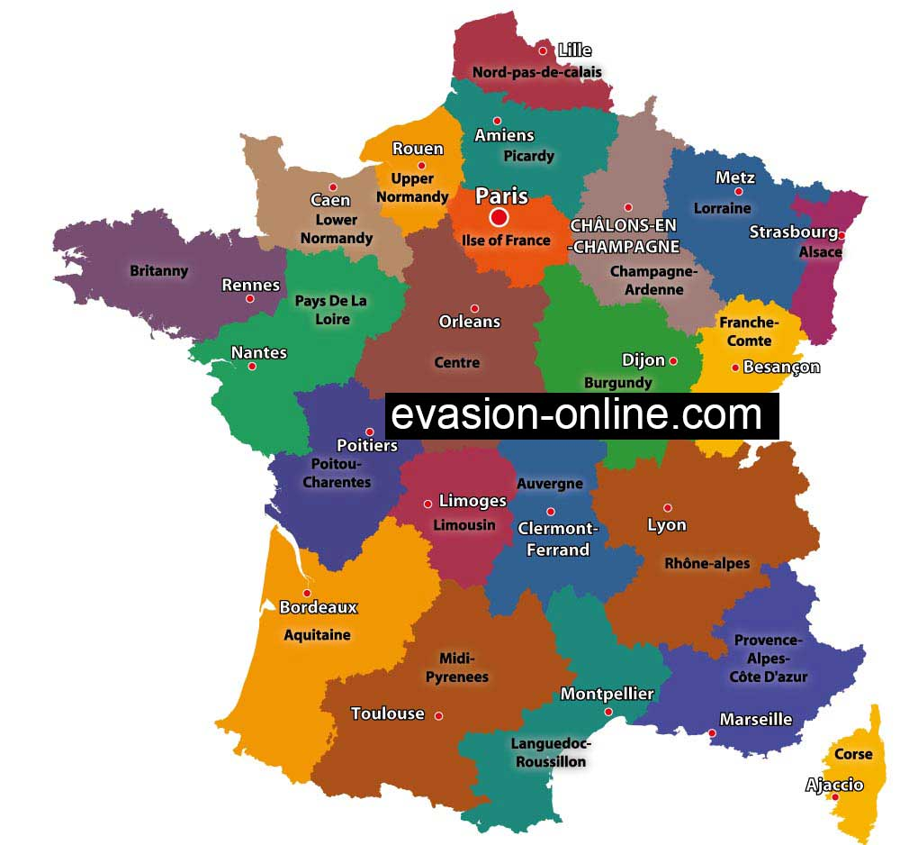 Map Of France Cities And Towns.Map Of France Vacances Arts Guides Voyages