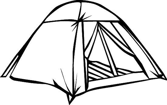 dessin tente de camping simple