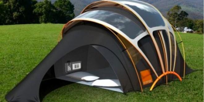 Tente de camping solaire