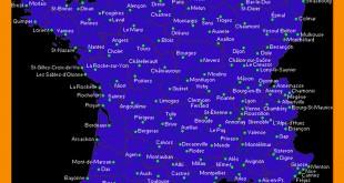 Carte villes de France