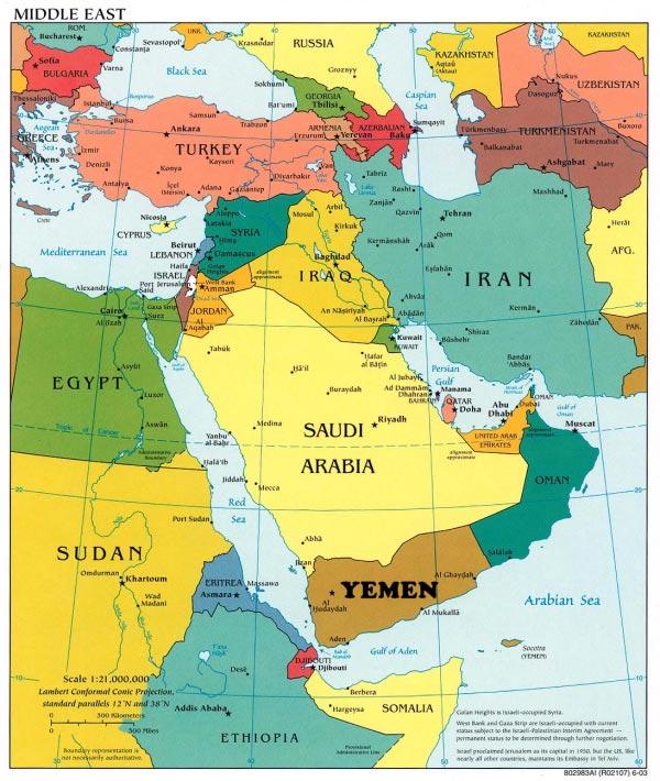 Yemen – Arabie Saoudite – Carte