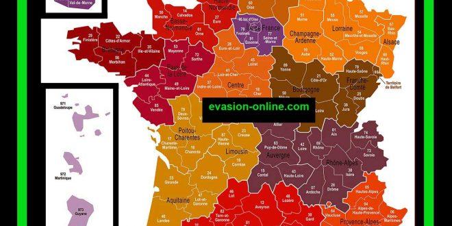 Carte 13 régions de France