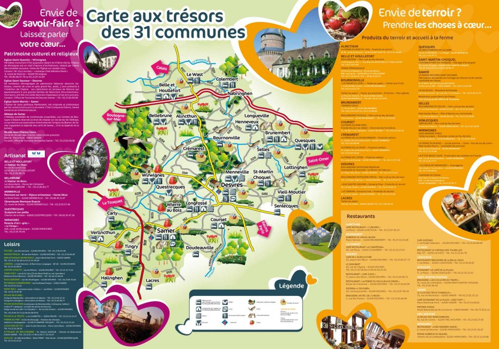 Carte touristique  - 31-communes