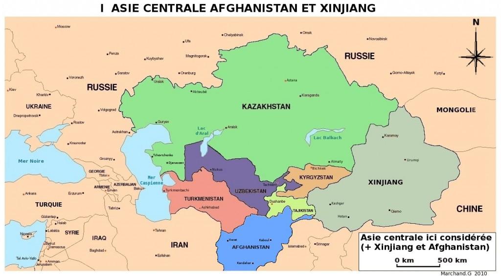 Asie Centrale - Carte
