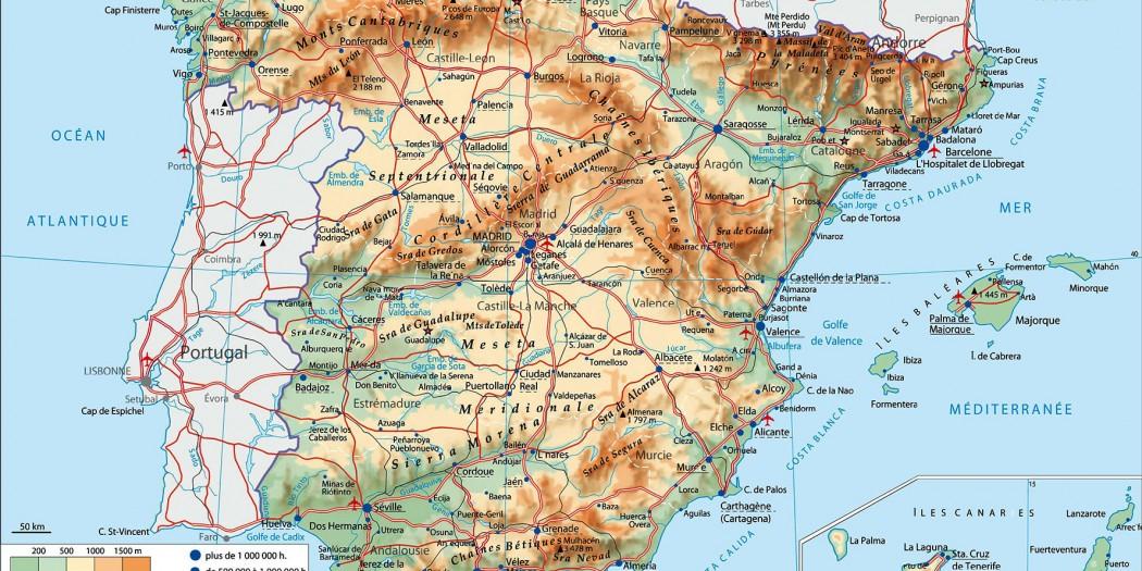 Carte Espagne Hd.Carte Espagne Vacances Arts Guides Voyages