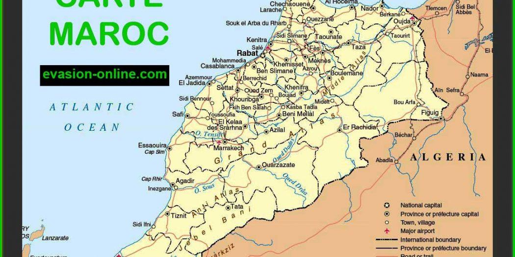 Maroc carte géographique
