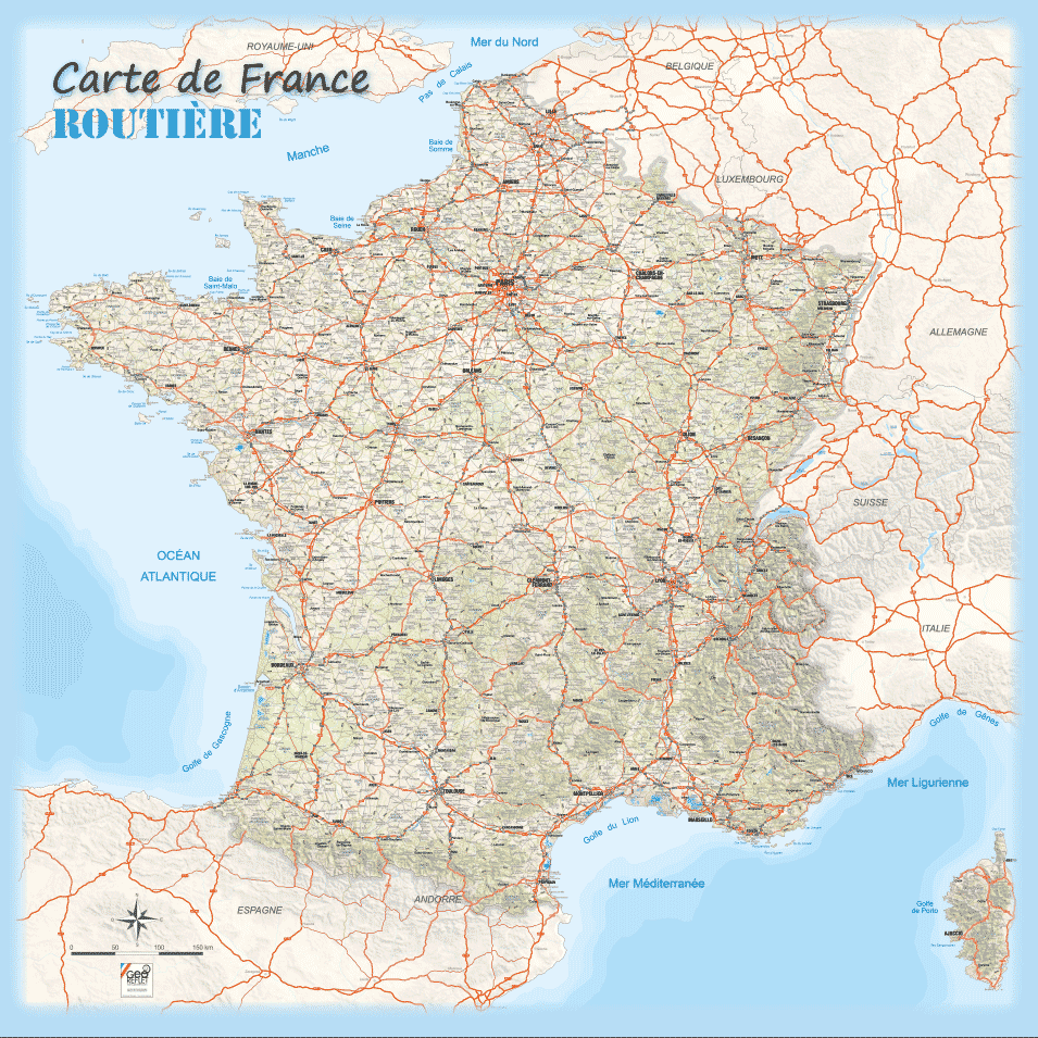 Plan des routes de France