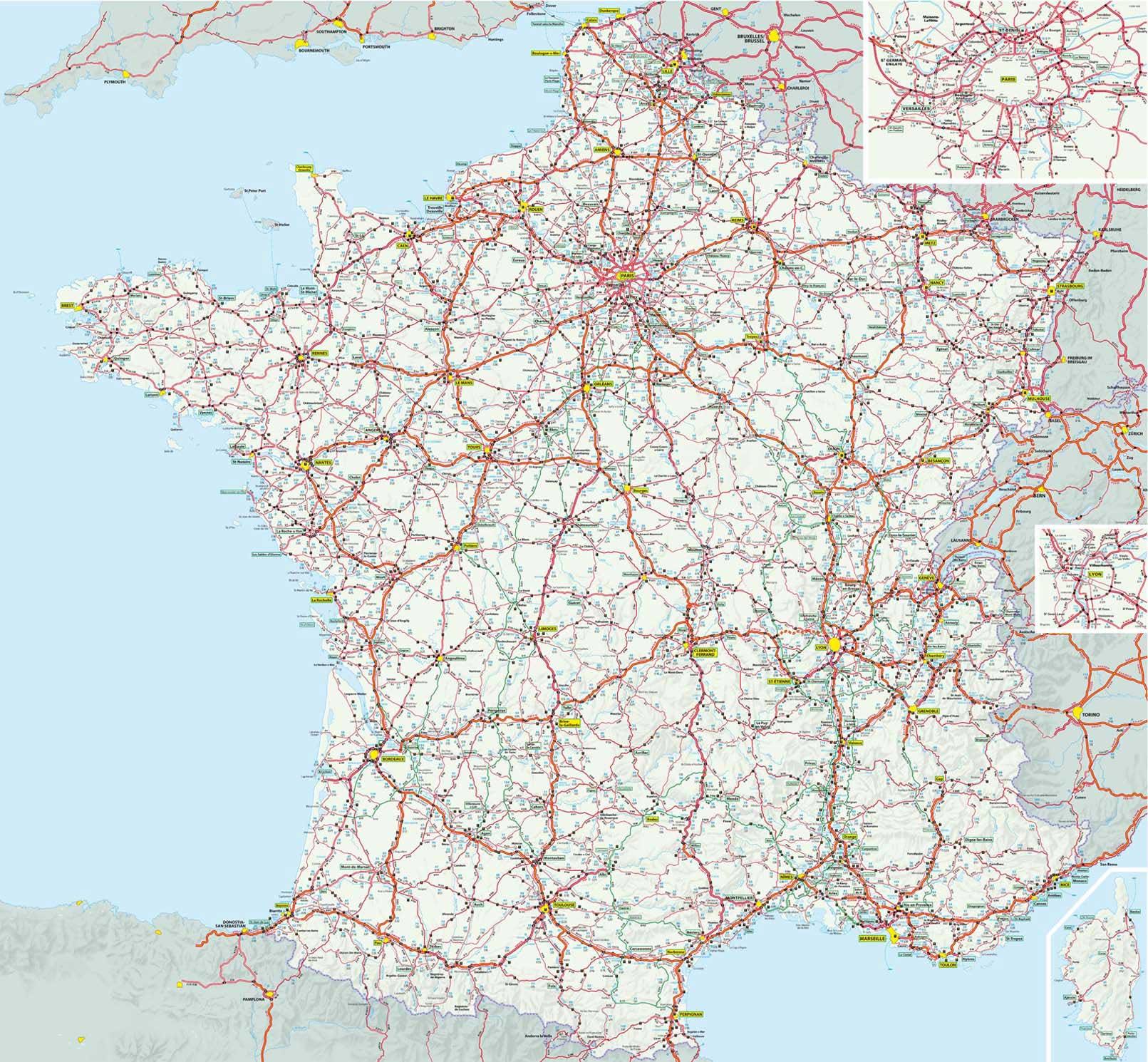 carte routière de france pdf