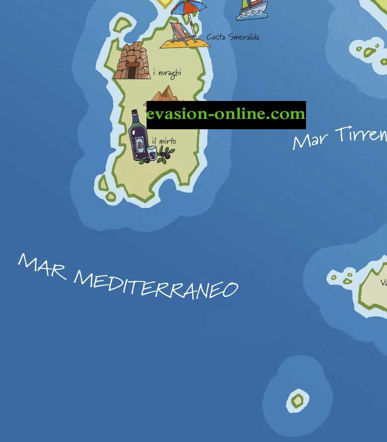 Carte Italie touristique S-O