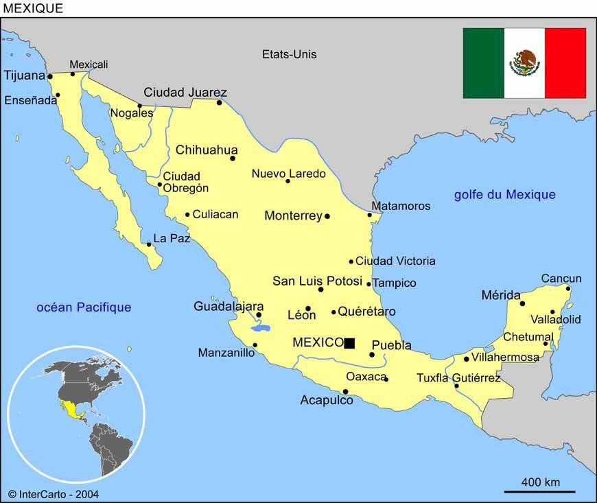 Mexique Carte
