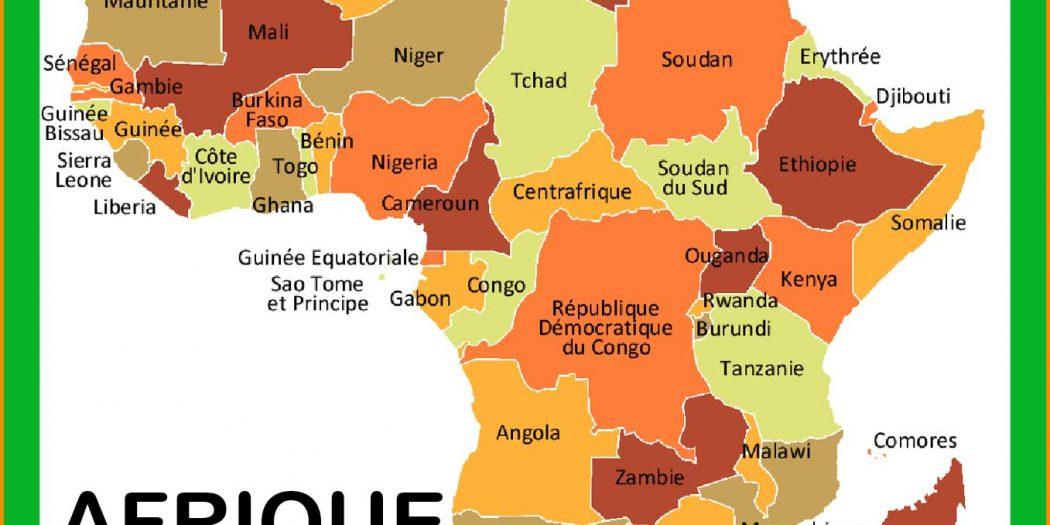 Favori Carte Afrique » Vacances - Arts- Guides Voyages QV61