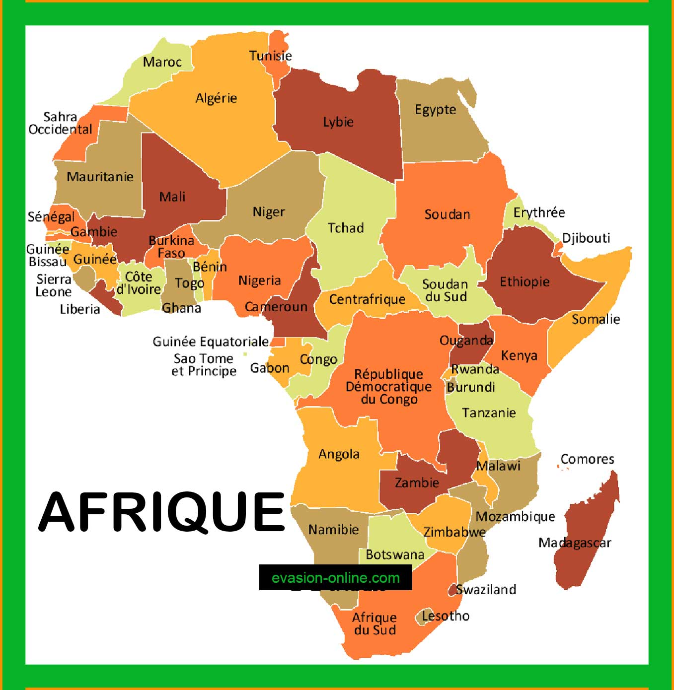 Carte Afrique 187 Vacances Arts Guides Voyages