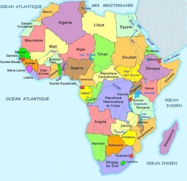 Carte Afrique - Ethnies
