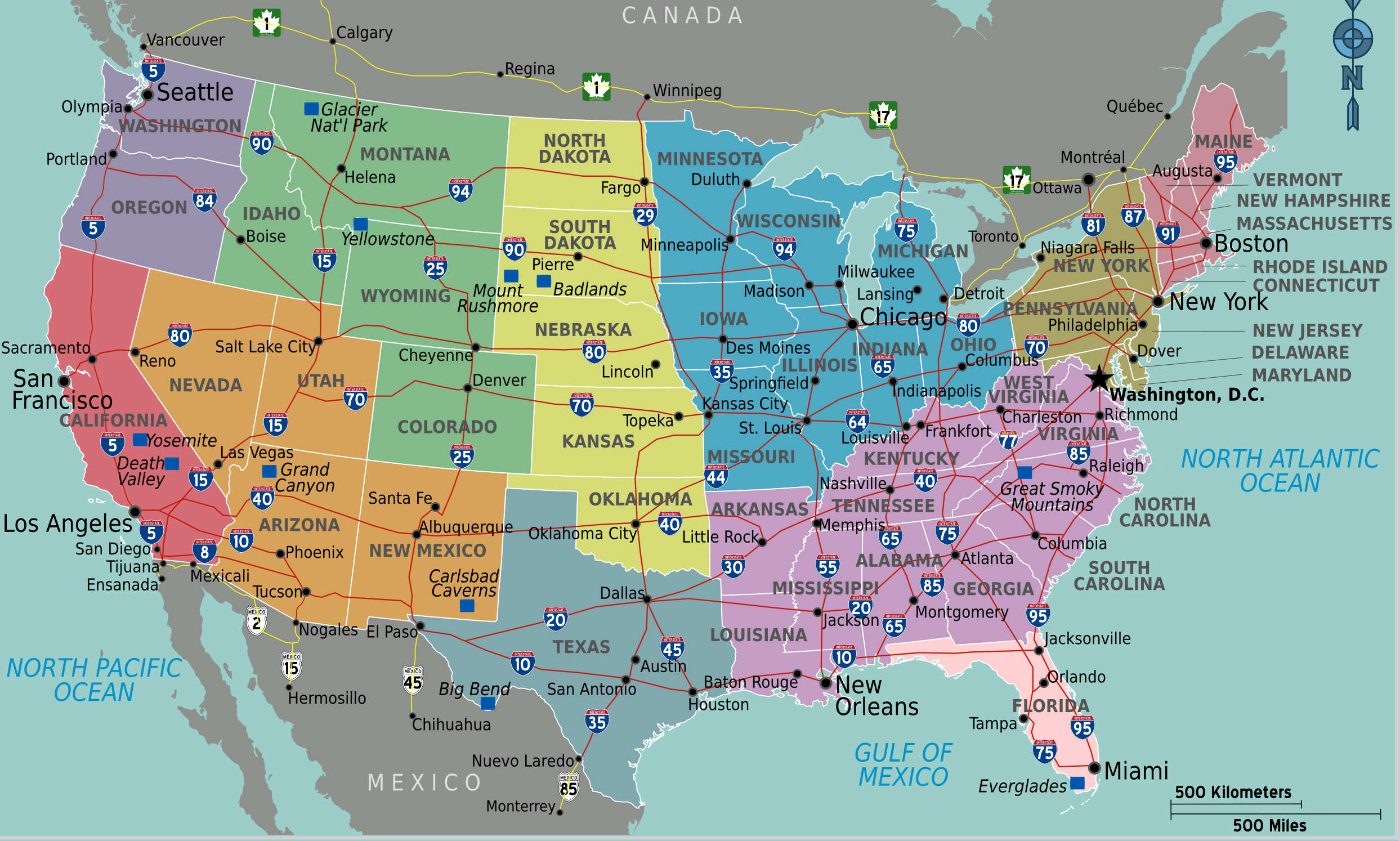 usa-carte-detaillee