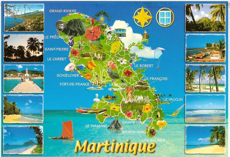 Carte tourisme en Martinique