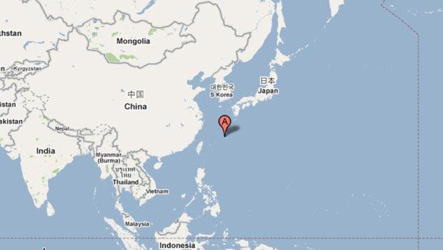 Le Japon sur la carte du monde