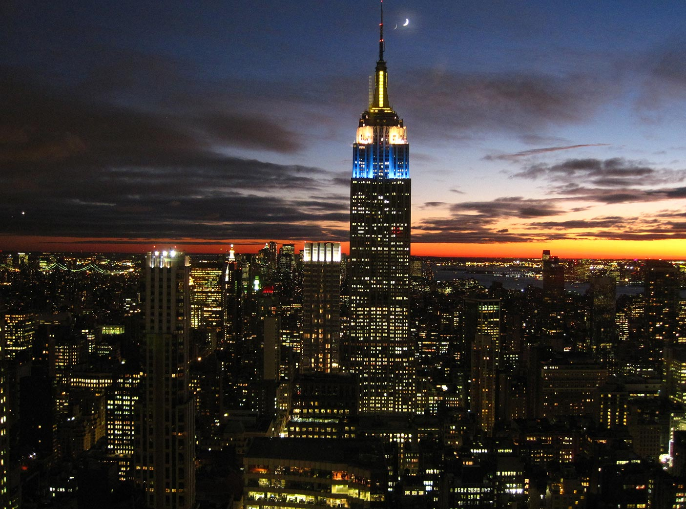empire state building de nuit