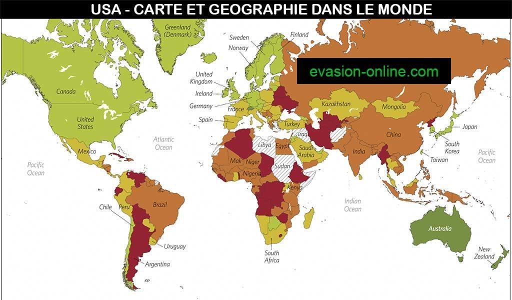 Carte des USA  dans le monde