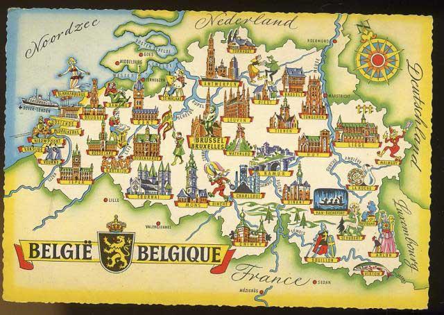 Carte touristique Belgique