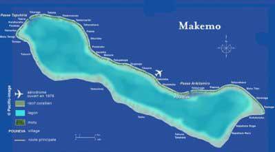 Carte de Makemo - Atoll