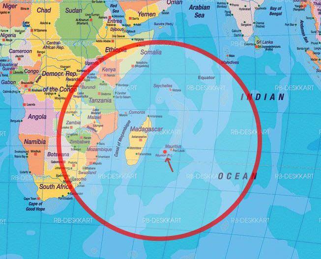 Ile Maurice-Carte du monde