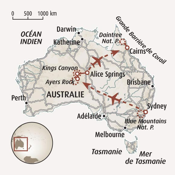 Ayers Rock - Carte Uluru Australie