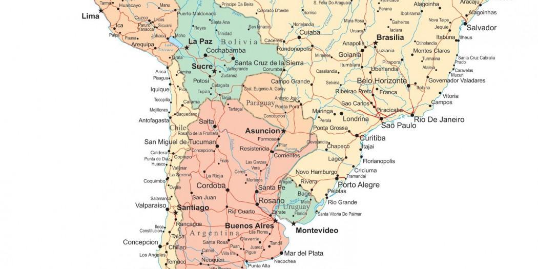 Berühmt Carte Amérique du Sud » Vacances - Arts- Guides Voyages DH73