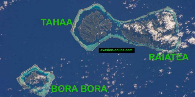Tahaa et Raiatea - Photo satellite