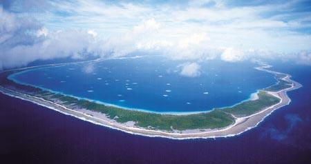 Atoll polynésien de Manihi