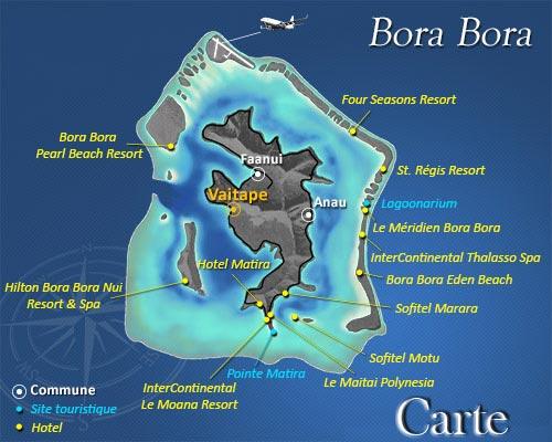 Carte de Bora Bora