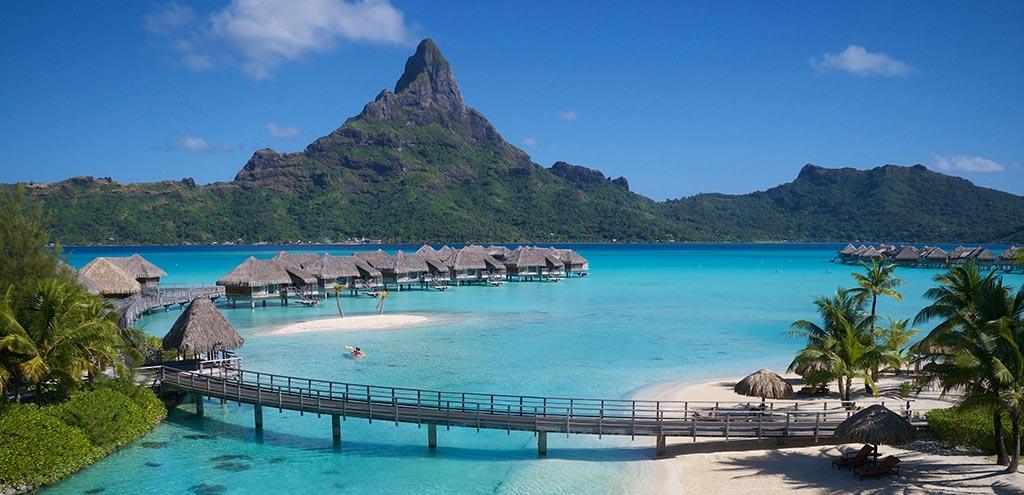 Plage de Bora Bora - Photo panoramique