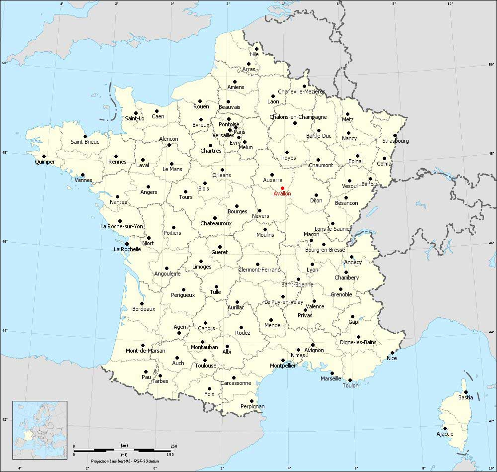 Carte d'Avallon