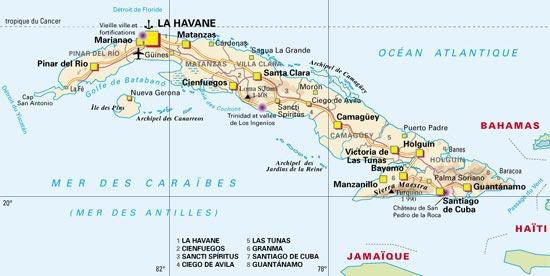 Carte de Cuba