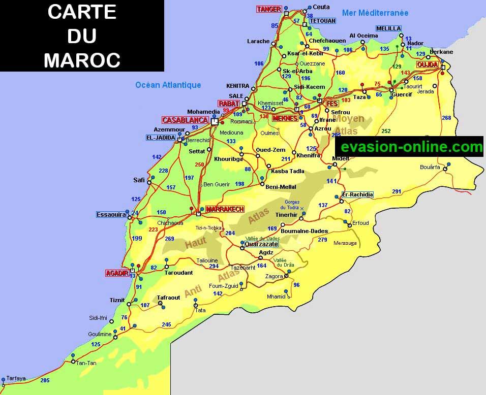 Maroc - Carte routière