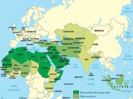 carte-du-monde- Tunisie