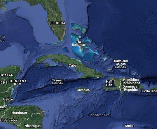 Carte des îles Caïmans