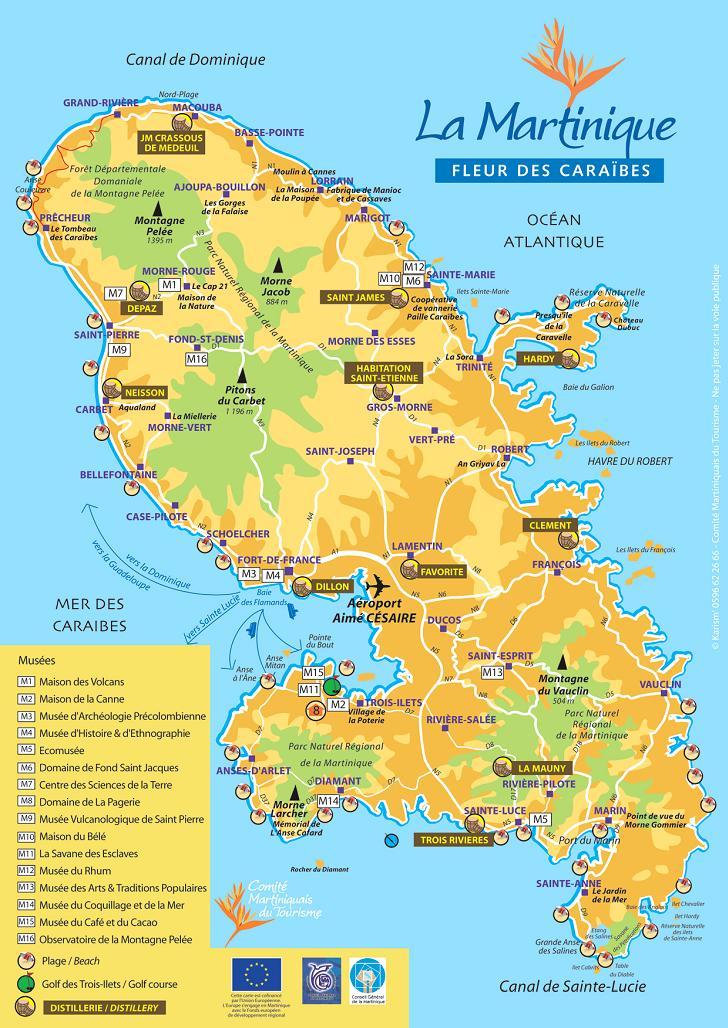 Carte Martinique Detaillee.10 Raisons De Partir En Martinique Vacances Arts Guides