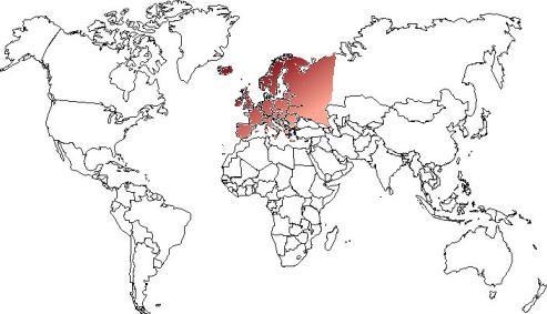 Europe - Carte et géographie dans le monde