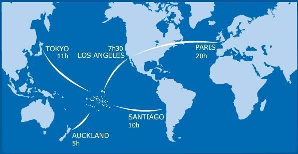 Carte de la Polynésie française dans le monde