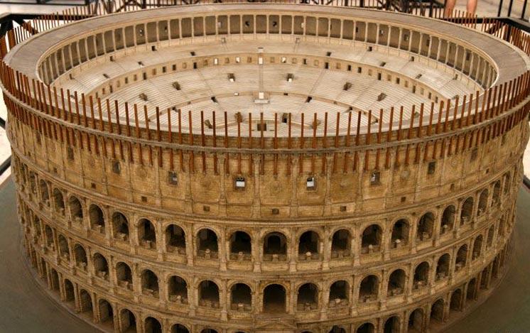 Maquette du Colisée Original de Rome