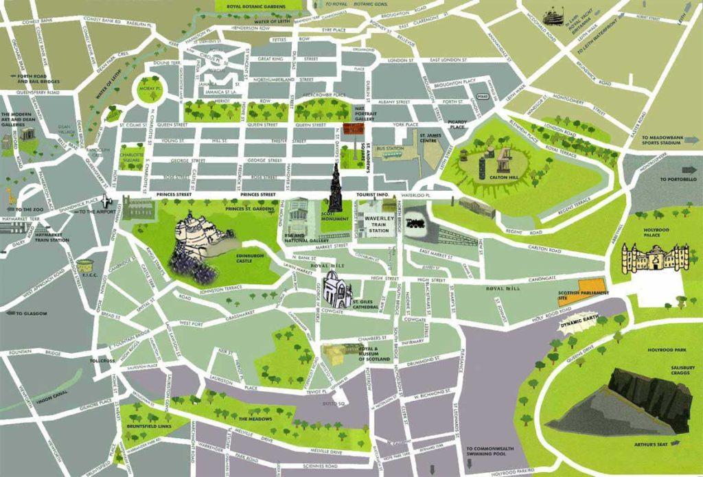 Edimbourg carte
