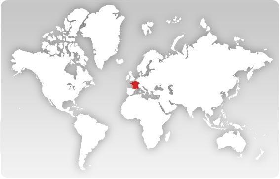 France - Carte géographique dans le monde