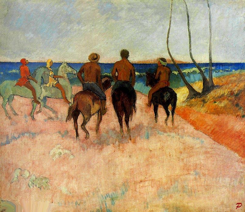 Paul Gauguin - Cavaliers sur la plage