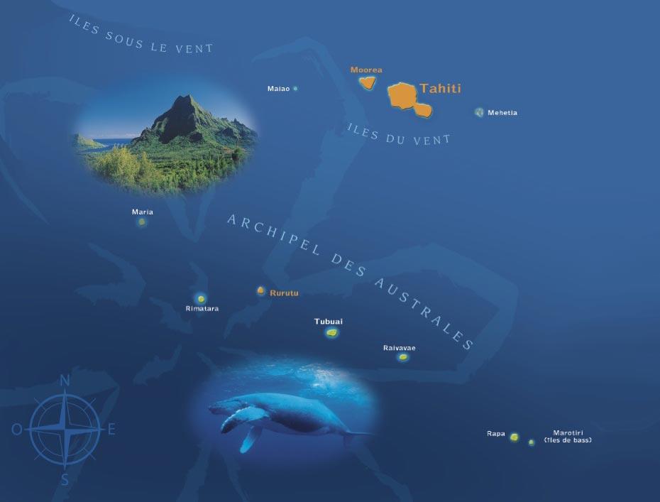 Iles Australes - Carte