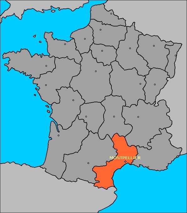 Languedoc - Carte France