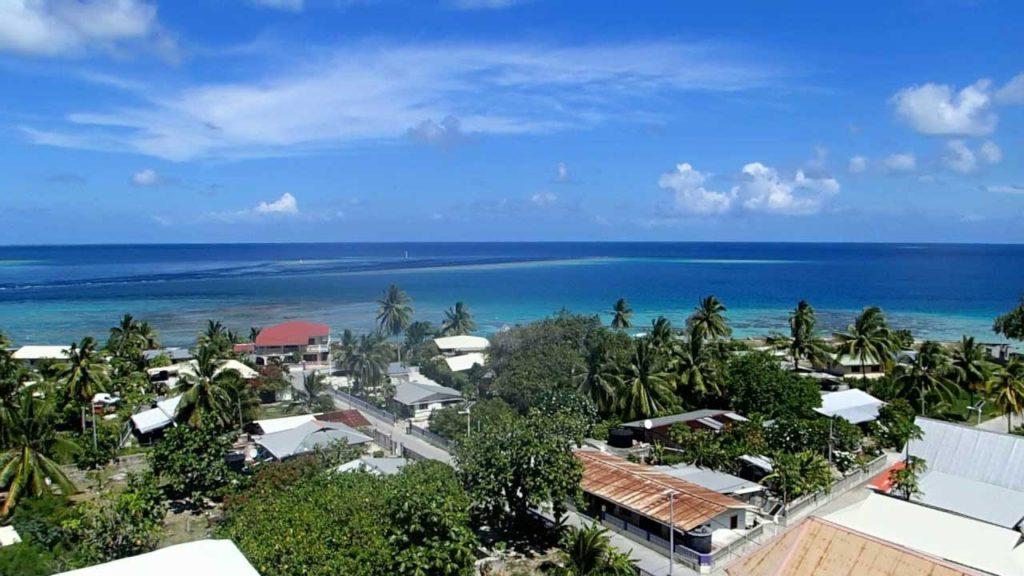Village de Pouheva, atoll de Makemo (Tuamotu)