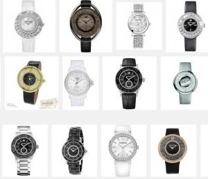 les montres Swarovski